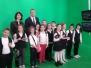 Clasa I-a C, vizita la televiziune, profesor Cristina Birliga